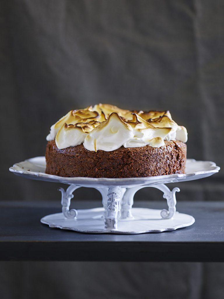 עוגת בראוניז מרנג קפה