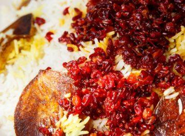 יהלומים אדומים – אורז לפסח חגיגי עם דומדמניות