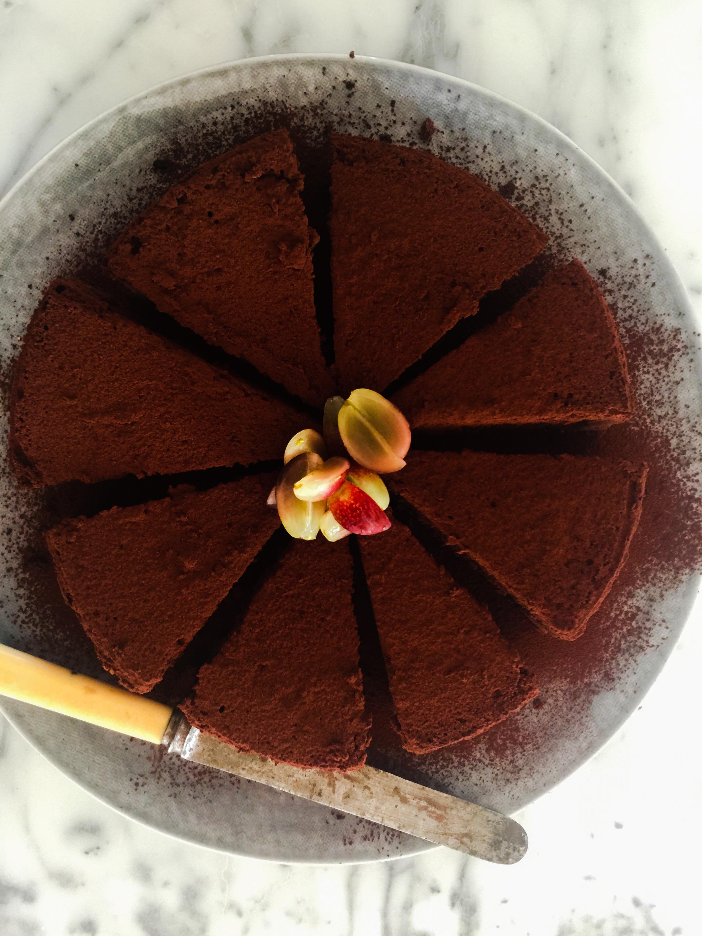 עוגת שוקולד הפוכה