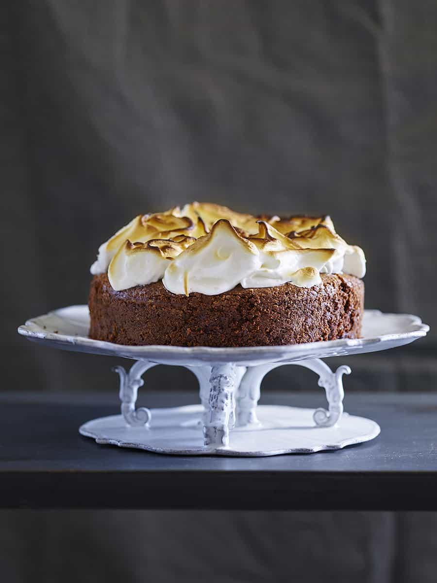 עוגת בראוניז קפה ומרנג