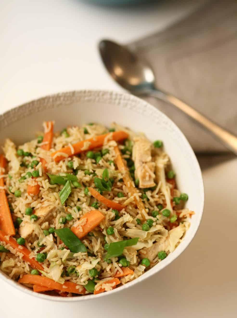עוף מוקפץ עם אורז