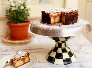 עוגת תותים עם קרמבל של קוואקר
