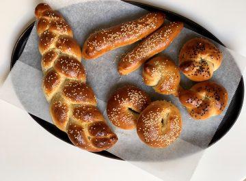 מאפים טבעוניים מבצק של בייגלה ירושלמי