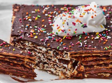 עוגת מצות לפסח עם שוקולד