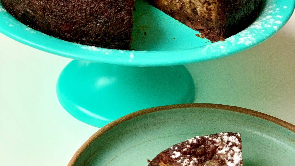 עוגת בננות בחושה עם שוקולד (כשרה לפסח)
