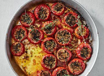 עגבניות ממולאות של קיץ (טבעוני)